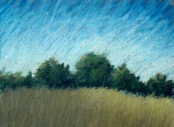 Summerfield, Framed Original Pastel