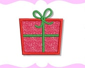 Wrapped Gift Applique Machine Embroidery Design