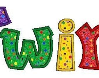 Twirl Applique Alphabet Machine Embroidery Designs