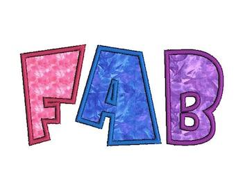 Fab Applique Alphabet Machine Embroidery Designs