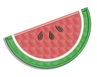 Watermelon Applique - 4x4, 5x7, 6x10- Machine Embroidery Design