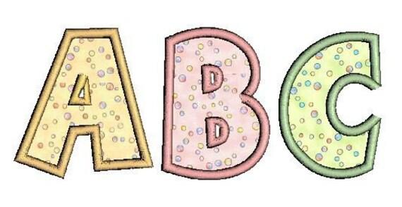 Fun Applique Alphabet Monogram Font Machine Embroidery Designs