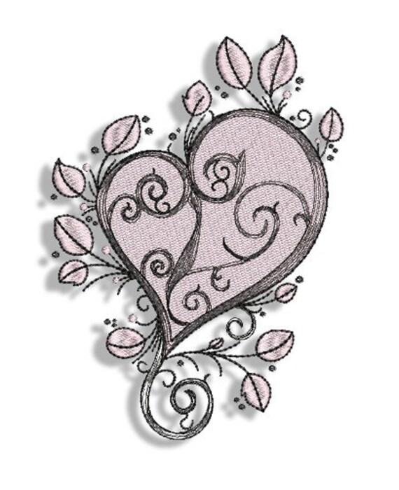 tattoo hearts machine embroidery designs 4x4 5x7. Black Bedroom Furniture Sets. Home Design Ideas