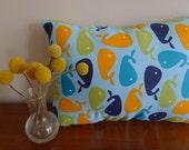 Whale Pillow - 13 x 9 - Handstuffed