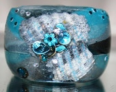 Silky Ocean Up Cycled  Small Resin Bangle