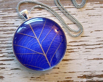 Bright Purple Leaf Necklace