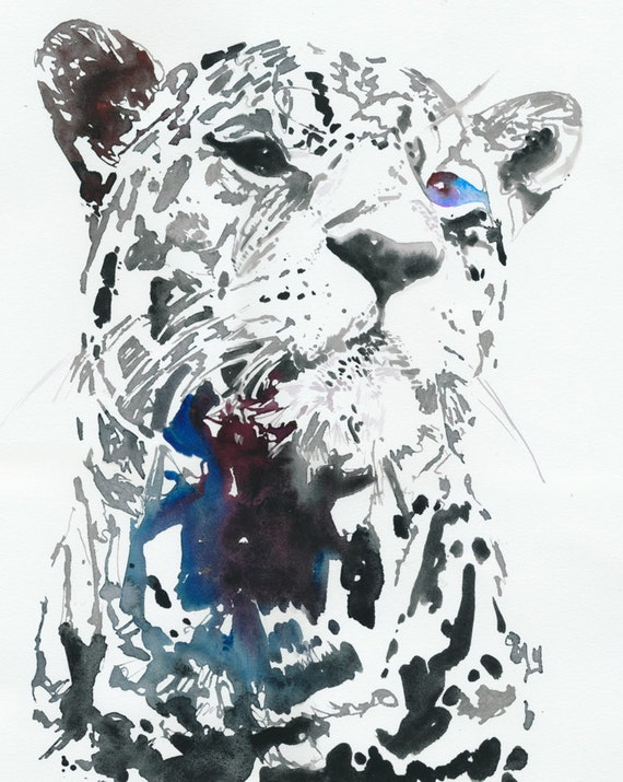 Watercolour Fashion Illustration - leopard