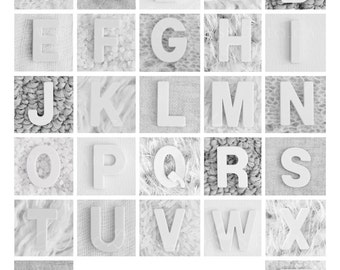 Alphabet Poster, ABC Poster for Kids, ABC Wall Art, Alphabet Name Art, Personalized Child Name Art, Minimalist Nursery Decor, Art Print