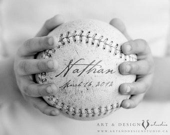 Baby Boy Nursery Art Print, Personalized Boys Room Decor, Baseball Nursery Decor, Personalized Baseball Art with Name, Baseball Art for Boys