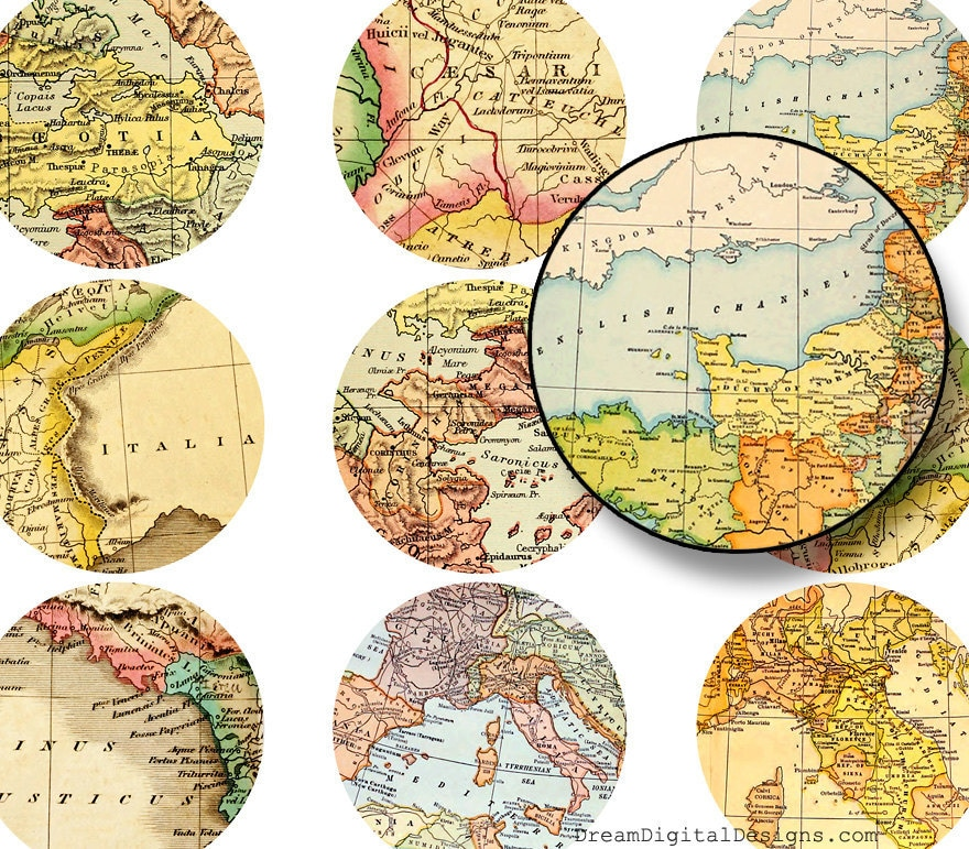 It's just a photo of Mesmerizing Circle Map Printable