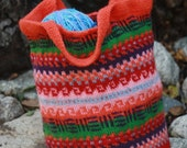 The Katie Fair Isle Tote in Rainbow Connection