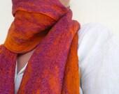 cobweb felted scarf -wine of life-