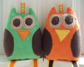 Crinkle Owl Toy for Baby Boy-You Pick 1 - Sensory Toy for Baby
