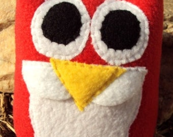 Santa Owl - Santa Owl Plushie - Christmas Owl - Jolly Old St. Nick Owl
