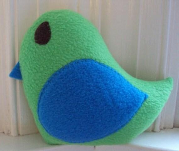Small Custom Plush Bird - Small Bird Pillow - Bird Nursery Decor