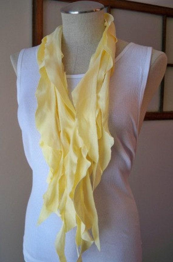 Yellow Ruffle Scarf