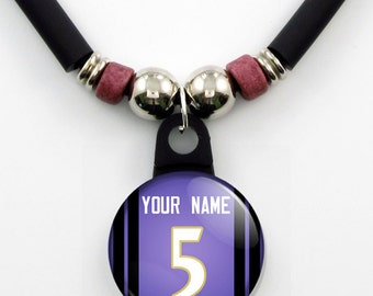 Personalized Baltimore football Jersey Necklace