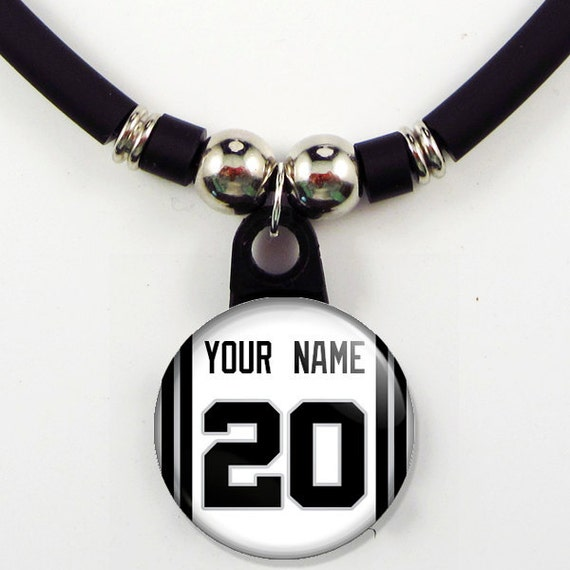 Personalized Basketball San Antonio Jersey Necklace With your Name and Number