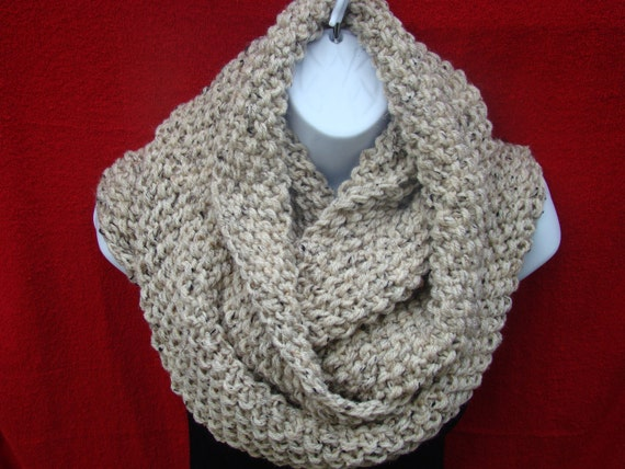 Comfy Cozy Soft Warm Double Wrap  Handmade Cowl Winter Scarf