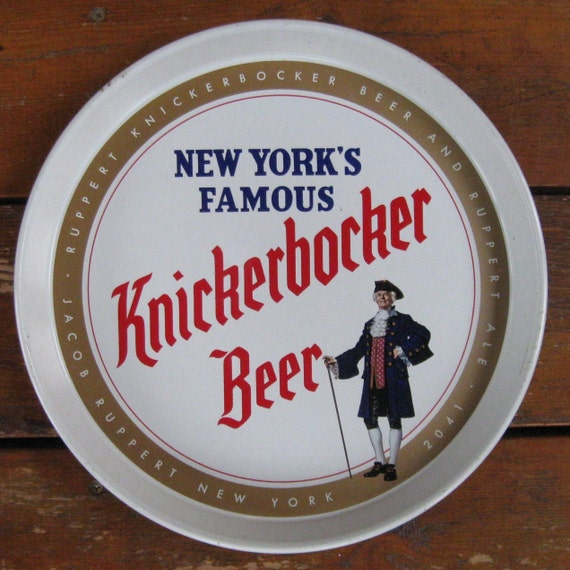 Knickerbocker New York's Famous Beer & Ruppert Ale Vintage Tray