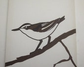 Vintage MARUSKA silkscreen print Brown Bird-put a bird on it
