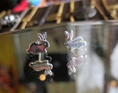 Sweet Little Bunny Stud Earrings - Sterling Silver