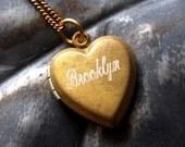 Brooklyn Love Locket - Custom Engraved Necklace