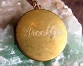 Engraved Brooklyn Locket - Necklace