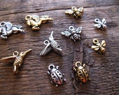 Build Your Own Charm Necklace - Flying Animals and Bugs Pewter Charms