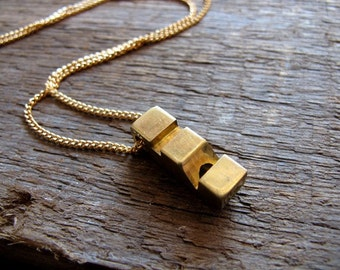 Vintage Whistle Necklace - no.1 -