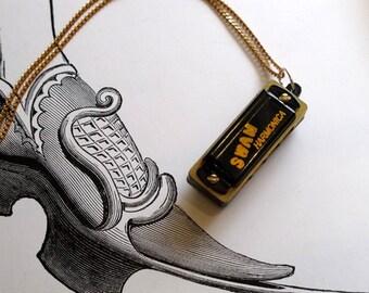 Black Harmonica Necklace