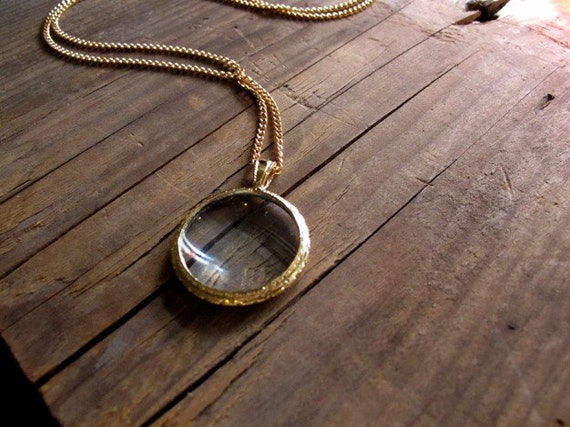 Small Monocle Necklace - Pick the Finish!