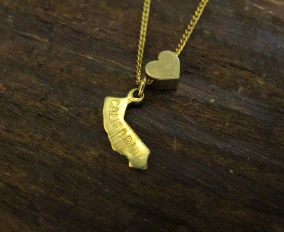 California Love - State Charm Necklace - 18 Inches
