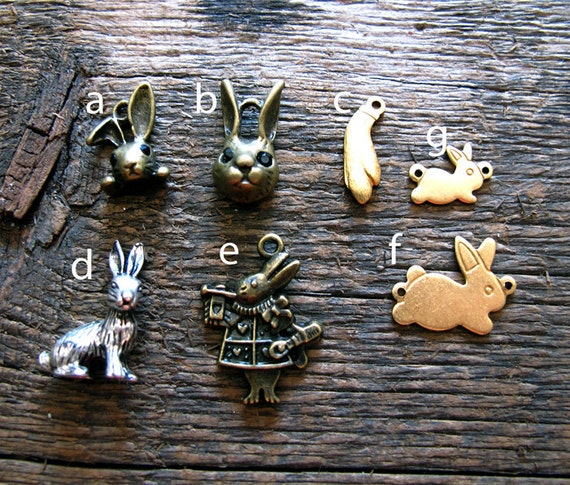 Build Your Own Charm Necklace - Bunny Rabbit Collection