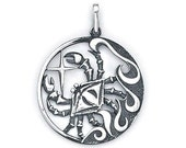 Cancer Zodiac Pendant Sterling Silver 503-4