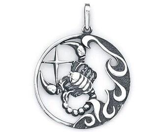 Scorpio Zodiac Pendant Sterling Silver 503-8