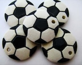 10 Large Soccer Ball Pendants