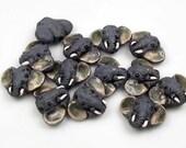 10 Tiny Elephant Head Beads