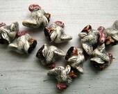 20 Tiny Turkey Beads