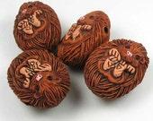 4 Large Hedgehog Beads - LG193
