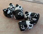 20 Pandas - Tiny Ceramic Beads