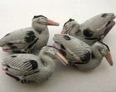 10 Large Heron Beads - LG274