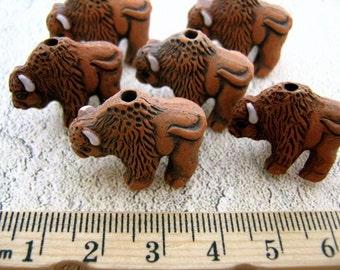 4 Large Buffalo Beads