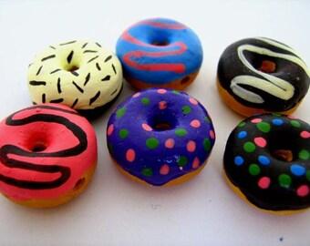 4 Large Doughnut Beads - LG440