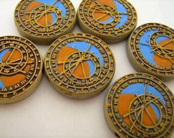 4 Large Astronomical Clock Beads