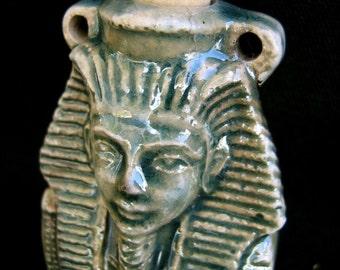 Raku Ceramic Bottle Bead  - King Tut