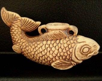 Koi Fish high fired ceramic bottle bead