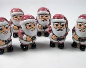 4 Large Santa Claus Beads