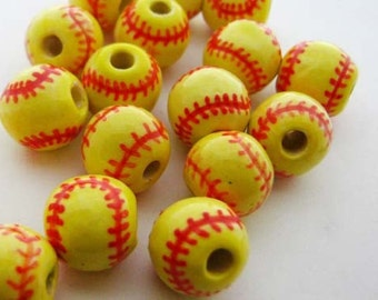 10 Softball Beads - Medium (10mm)