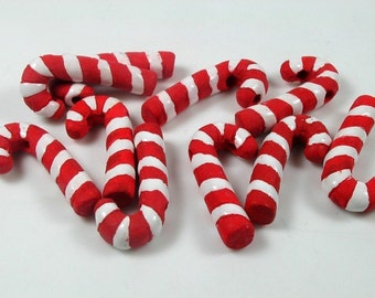 10 Large Candy Cane Beads